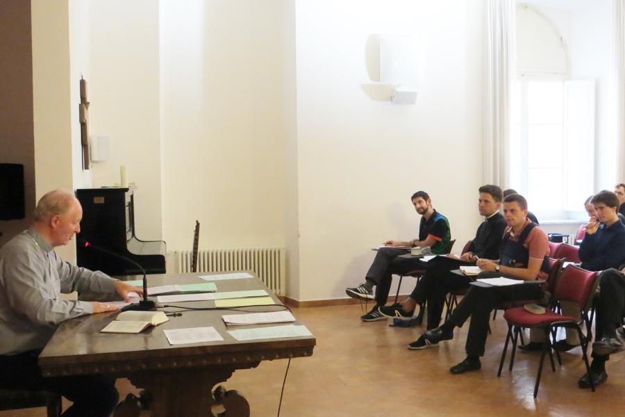 Mgr Crepy a préché la retraite de rentrée du séminaire français de Rome
