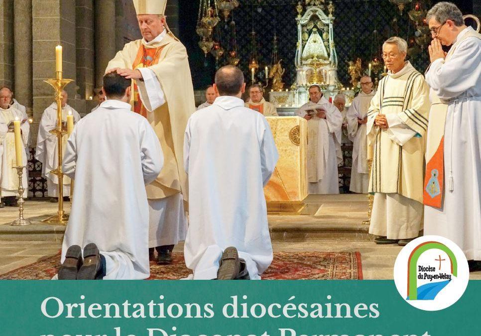 Orientations diocésaines pour le diaconat permanent